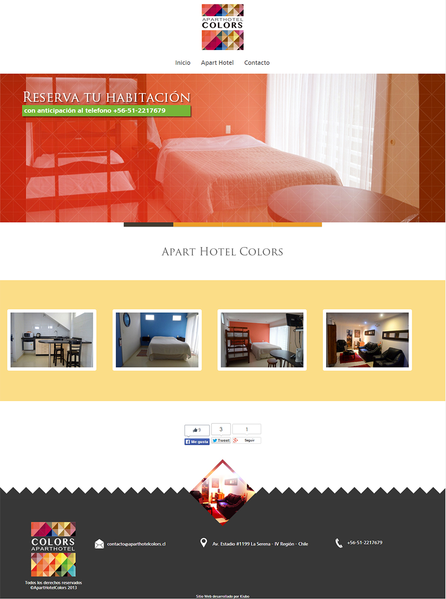 sitio web aparthotel colors